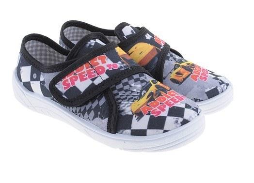 Chlapčenské papuče speed, s ortopedickou stielkou, zapínanie na suchý zips