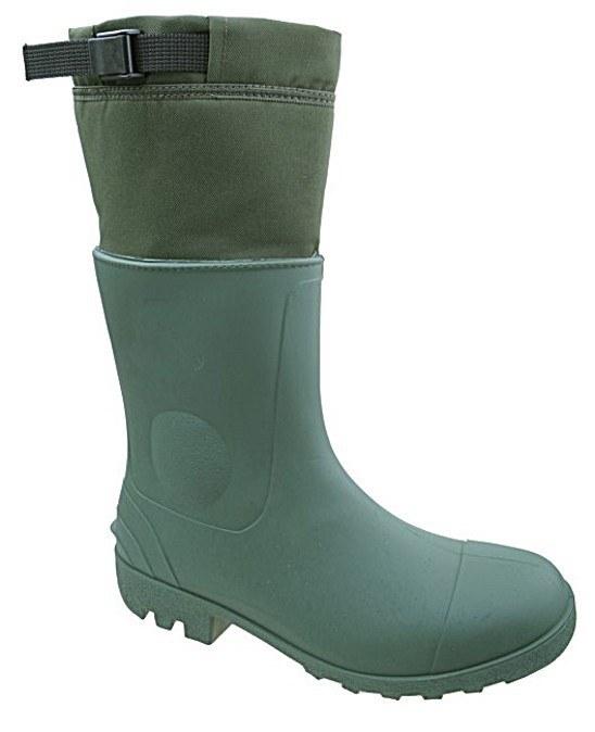 Gumofilcové čižmy zelené s prackou