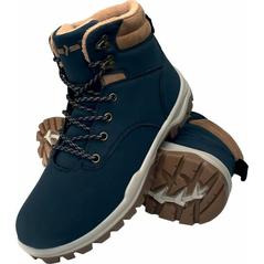Dámska zimná pracovná obuv modré zateplené