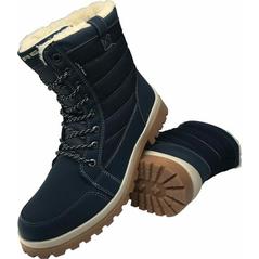 Dámske vysoké pracovné topánky zimné, zateplené, modré