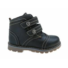 Detské kožene zimné topánky čierne
