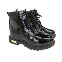 Čierne zateplené detské topánky