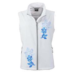 Dámska športová softshellová vesta biela