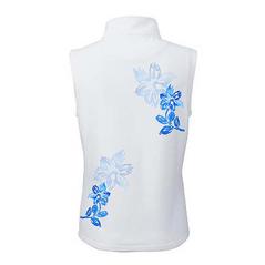 Dámska športová softshellová vesta Slovakia Folk modrý kvet, biela
