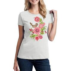 Dámske tričko slovakia folk kvety