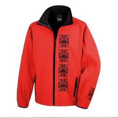 Pánska softshellová bunda červená slovakia folk