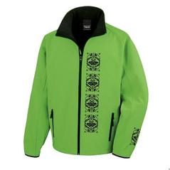 Pánska softshellová bunda zelená slovakia folk