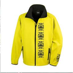 Pánska softshellová bunda žltá slovakia folk