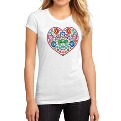 Dámske športové tričko srdce - slovakia folk