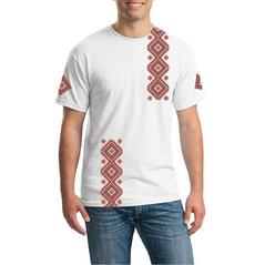 Pánske tričko Slovakia folk Čičmany červené