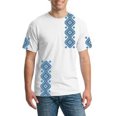Pánske tričko Slovakia folk Čičmany modré