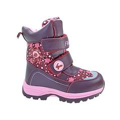 Dievčenské zimné topánky červené, zapínanie na suchý zips