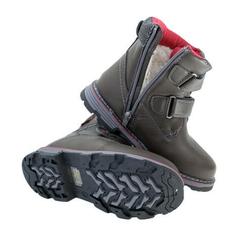 Chlapčenské hnedé topánky zateplené