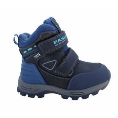 Modré detské zateplené topánky