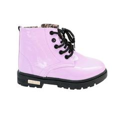 dievčenské ružové zimné topánky lesklé