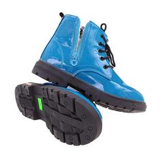 detské tyrkysové topánky lesklé