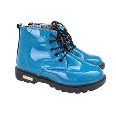 detské štýlové topánky na zips a šnurovanie modré
