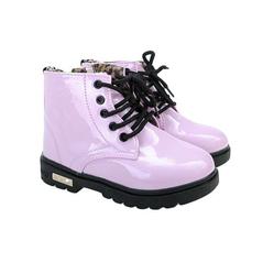 ružové lesklé dievčenské topánky