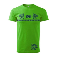 Pánske športové tričko zelené vzor Čičmany