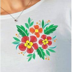 Dámske tričko s dlhým rukávom Slovakia Folk kvet