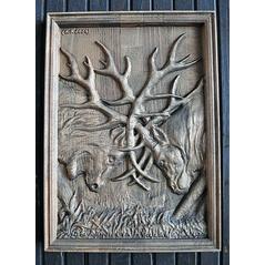 drevorezba jeleň
