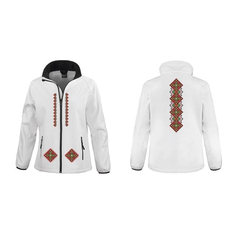 Dámska prechodná bunda biela Slovakia Folk