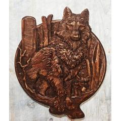 Drevorezba Vlci