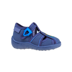 Detské textilné papučky sivo-modré